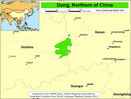 Dong, Northern in China map