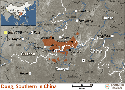 Dong, Southern in China map