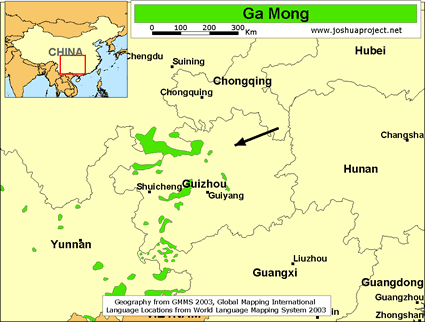 Ga Mong in China map