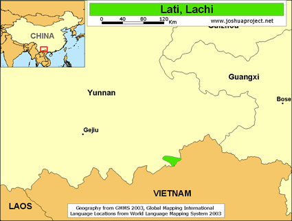 Lachi in China map