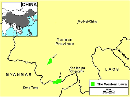 Lawa in China map