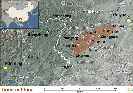 Limin in China map