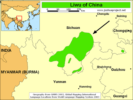 Liwu in China map