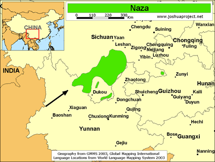 Naza in China map