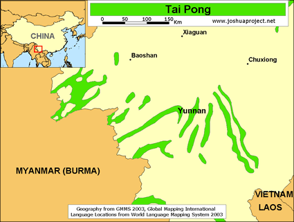Tai Pong in China map