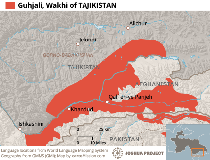 Wakhi in Tajikistan map