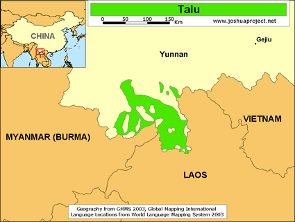 Talu in China map