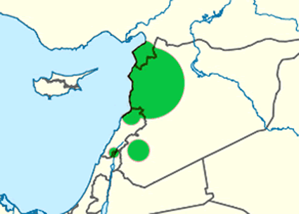 Alawite in Israel map