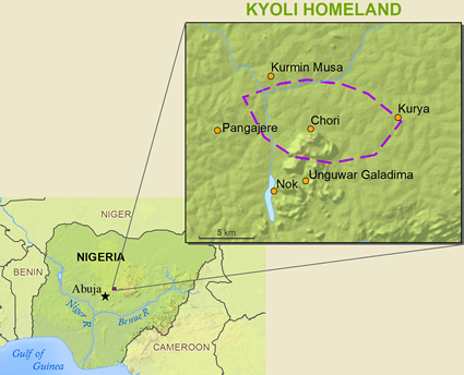 Cori in Nigeria map