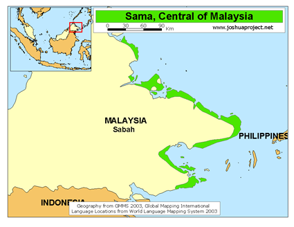 Sama-Bajau in Philippines map