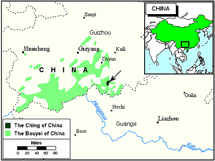 Mo in China map