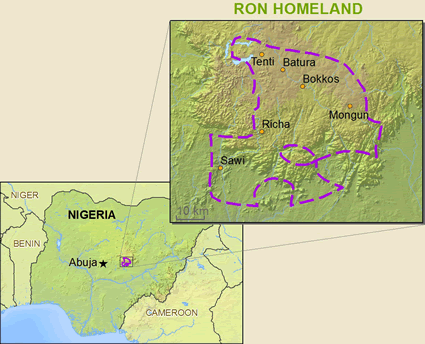 Ron in Nigeria map