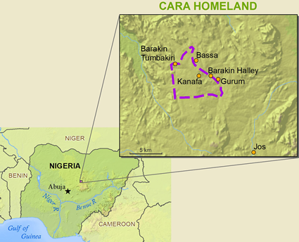 Chara, Fachara in Nigeria map