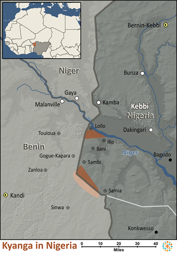 Kyanga in Nigeria map