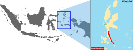 Maba in Indonesia map