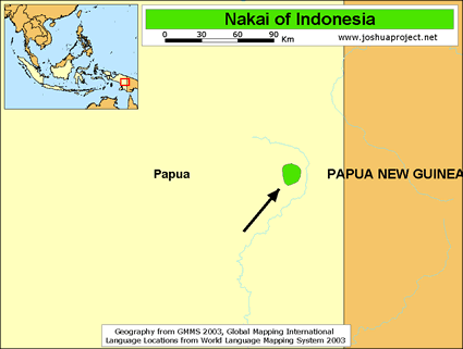 Nakai in Indonesia map