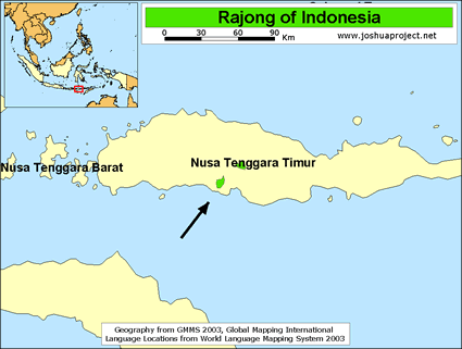 Rajong in Indonesia map