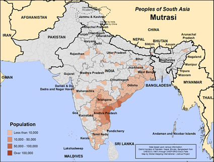 Mutrasi in India map