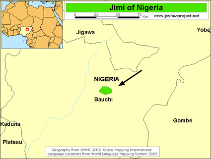 Jimi, Bi-Gimu in Nigeria map