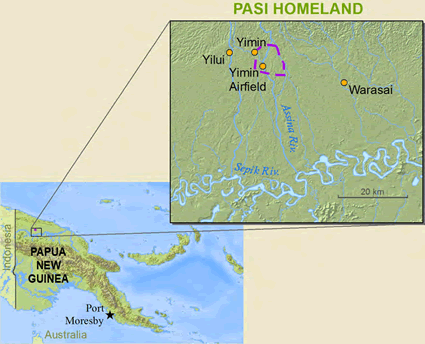 Pasi in Papua New Guinea map