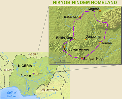 Kaningkom-Nindem in Nigeria map