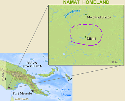 Namat in Papua New Guinea map