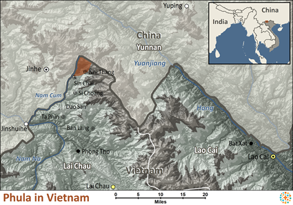 Phula in Vietnam map