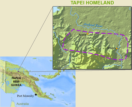 Tapei in Papua New Guinea map