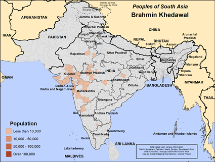 Brahmin Khedawal in India map