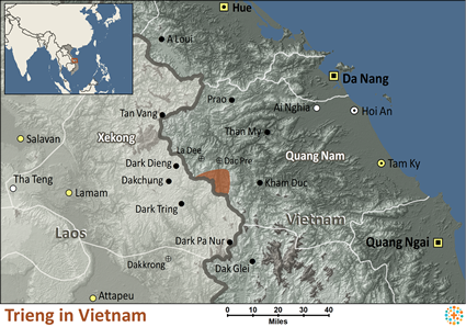 Trieng in Vietnam map