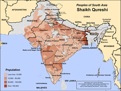 Shaikh Qureshi in Nepal map