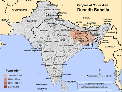 Dusadh Bahelia in Bangladesh map