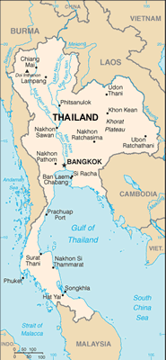 Thai Islam in Thailand map